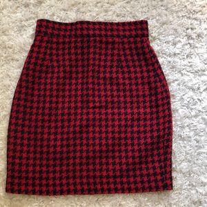 Vintage Houndstooth mini skirt